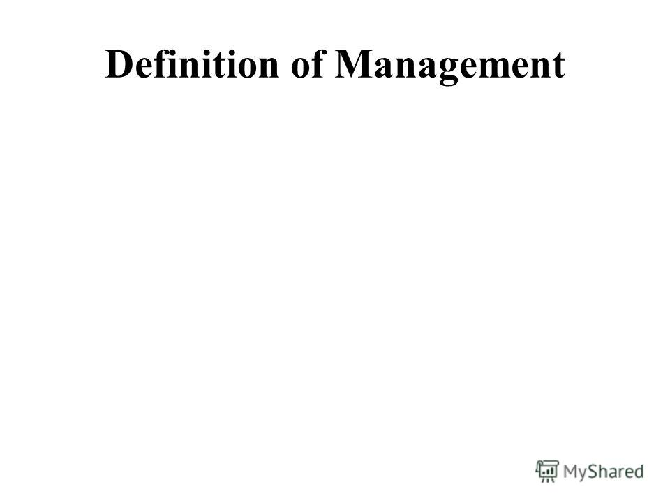 Definition of Management