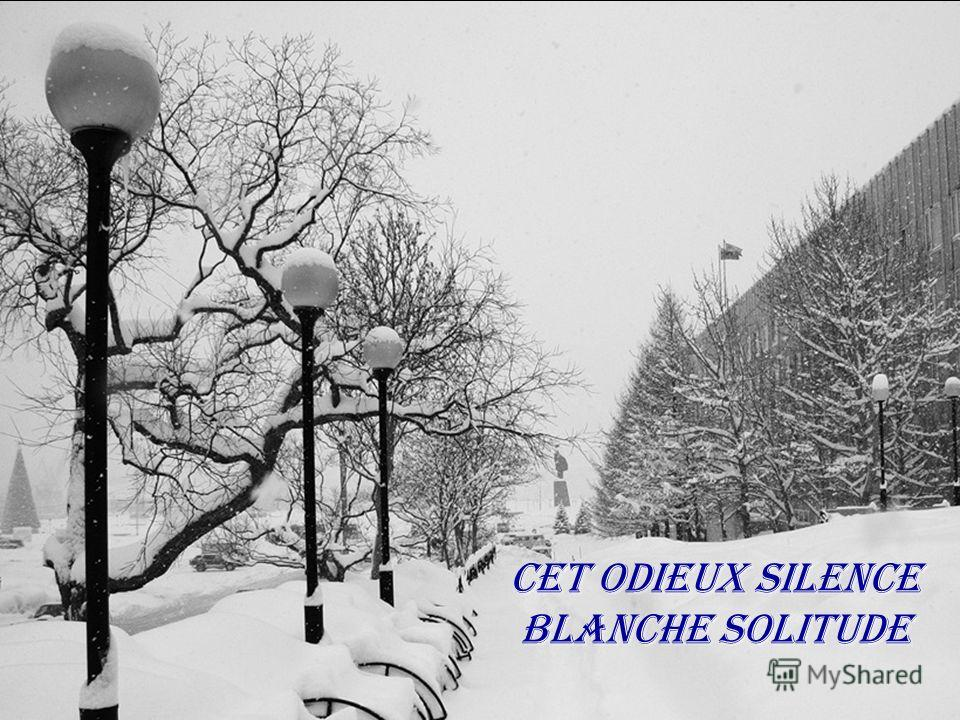 Cet odieux silence Blanche solitude
