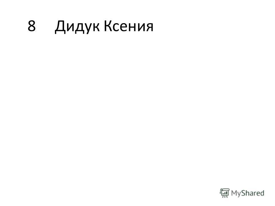 8Дидук Ксения