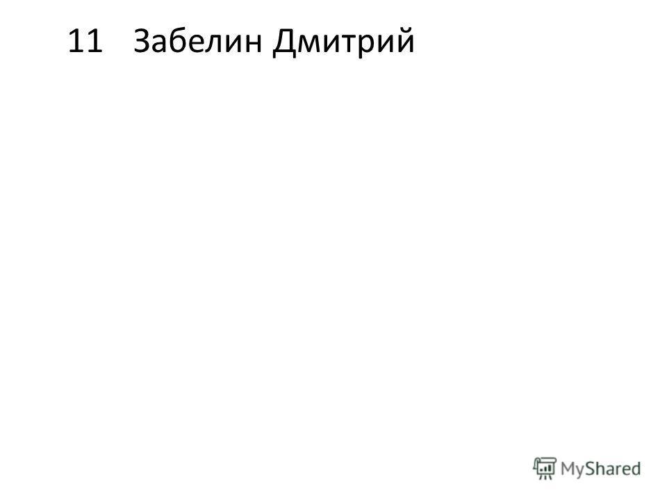 11Забелин Дмитрий