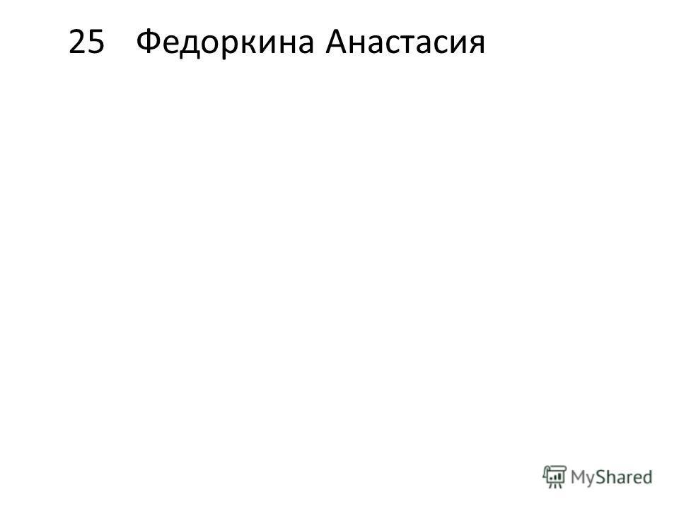 25Федоркина Анастасия