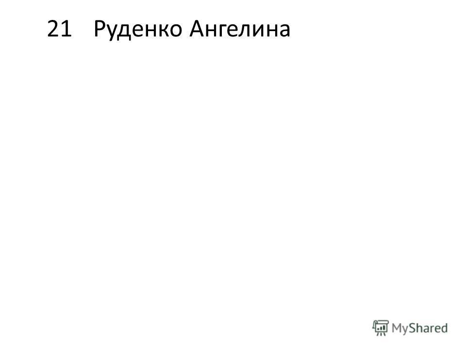 21Руденко Ангелина
