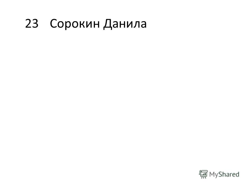 23Сорокин Данила