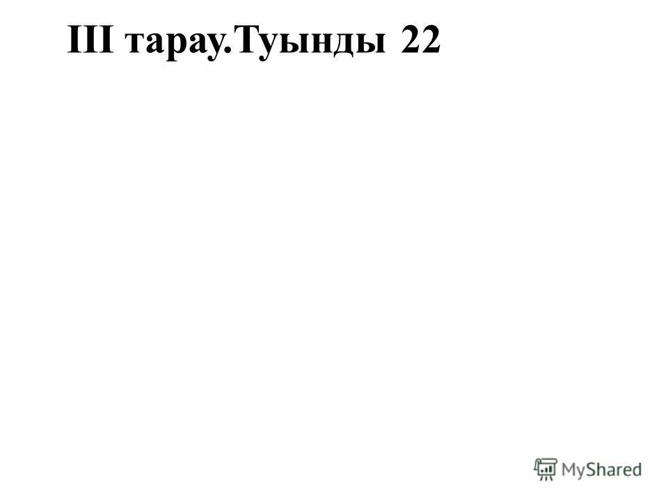 ІІІ тарау.Туынды22
