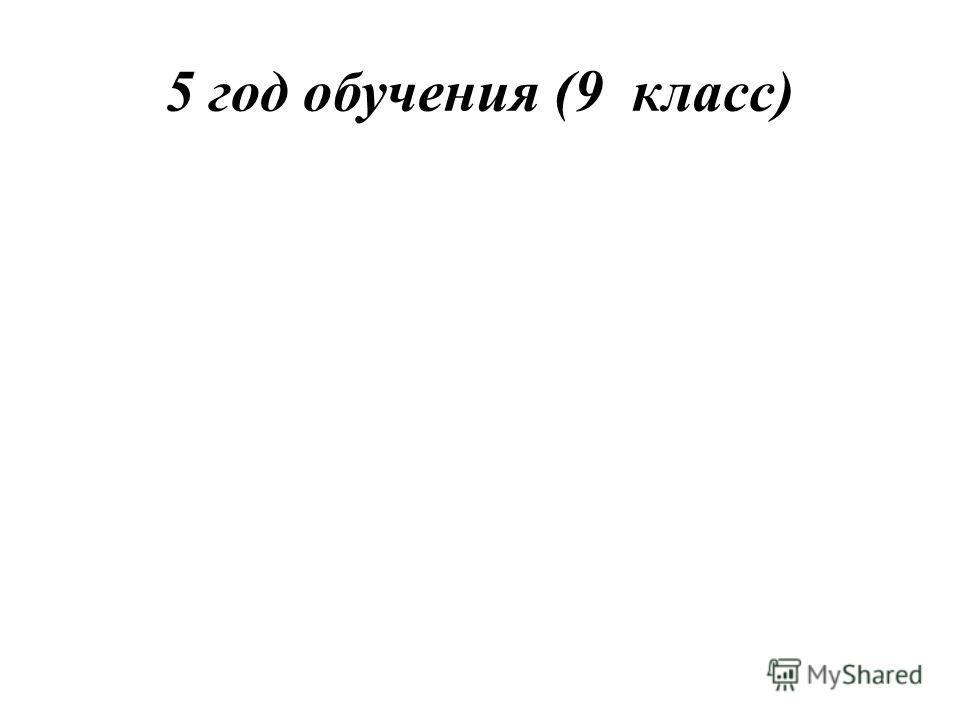 5 год обучения (9 класс)