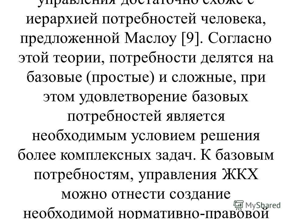 Классический метод управления отраслью ЖКХ, который активно реализовывался в России на протяжении последних десятилетий, часто характеризуется исследователями как недостаточно гибкий, с чрезвычайно нормативным характером. Одним из главных недостатков