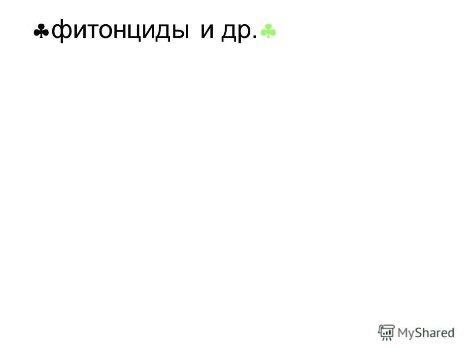 фитонциды и др. фитонциды и др.