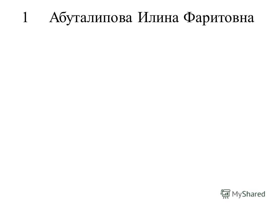 1Абуталипова Илина Фаритовна
