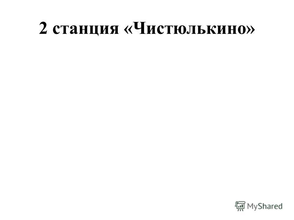 2 станция «Чистюлькино»