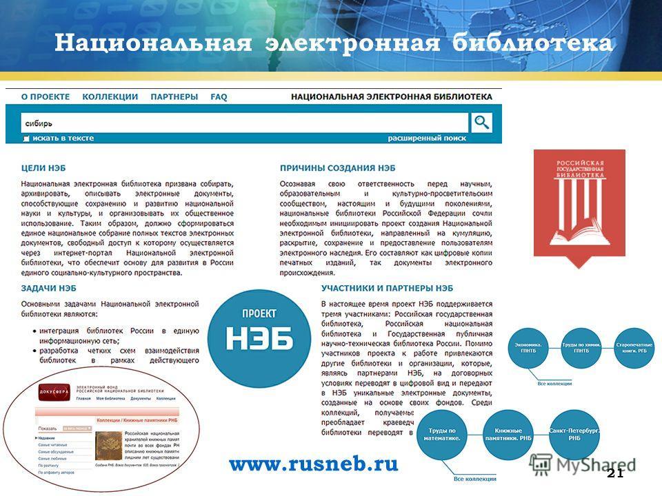 21 Национальная электронная библиотека www.rusneb.ru