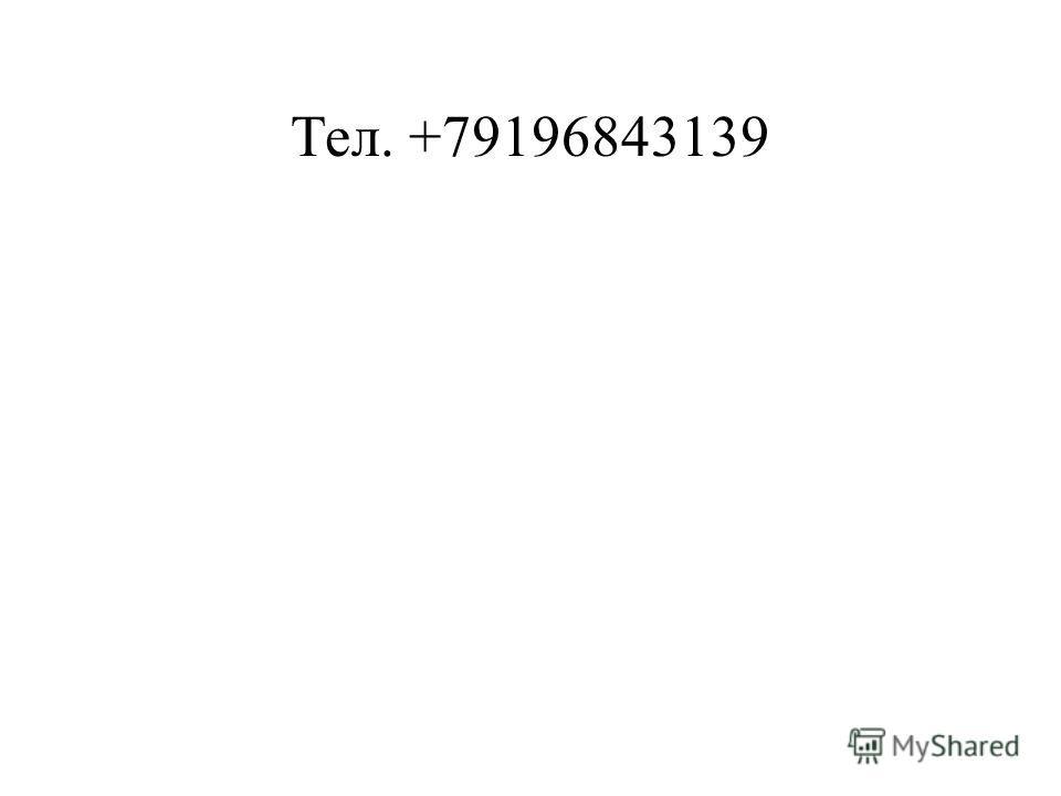 Тел. +79196843139