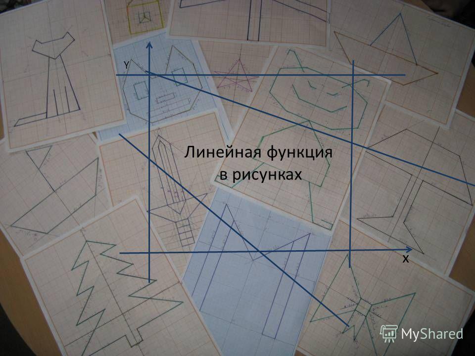 Линейная функция в рисунках Y x Линейная функция в рисунках x Y