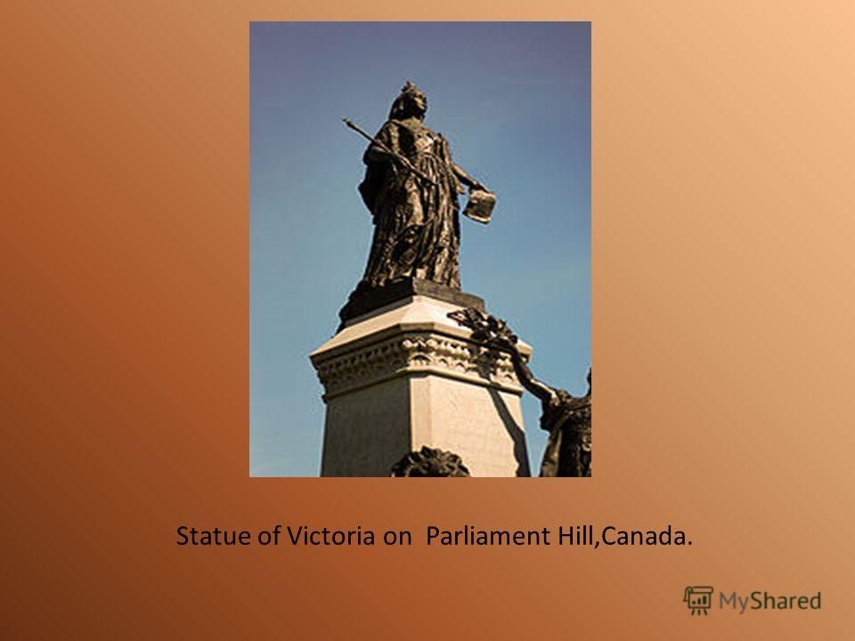 Statue of Victoria on Parliament Hill,Canada.