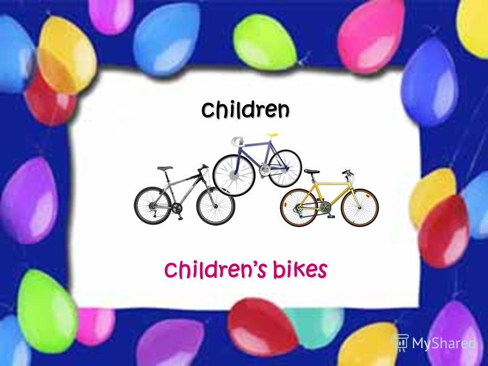 Possessive Case children childrens bikes