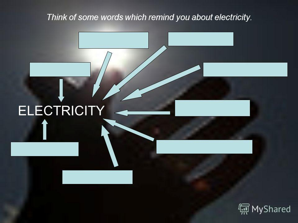 Think of some words which remind you about electricity. ELECTRICITY