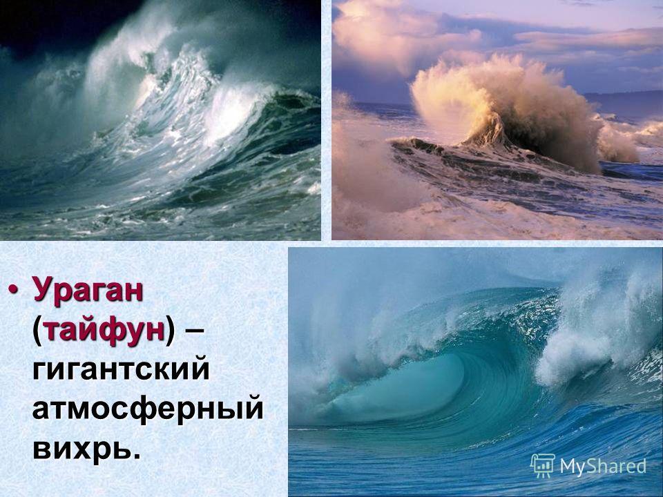 Ураган (тайфун) – гигантский атмосферный вихрь.Ураган (тайфун) – гигантский атмосферный вихрь.