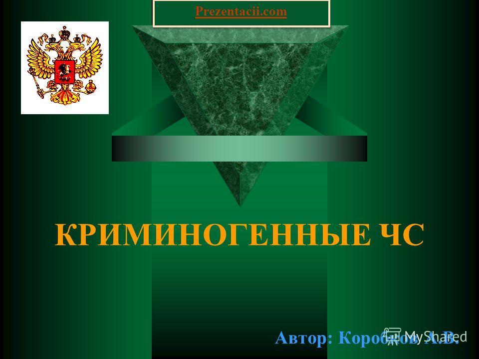 КРИМИНОГЕННЫЕ ЧС Автор: Коробков А.В. Prezentacii.com