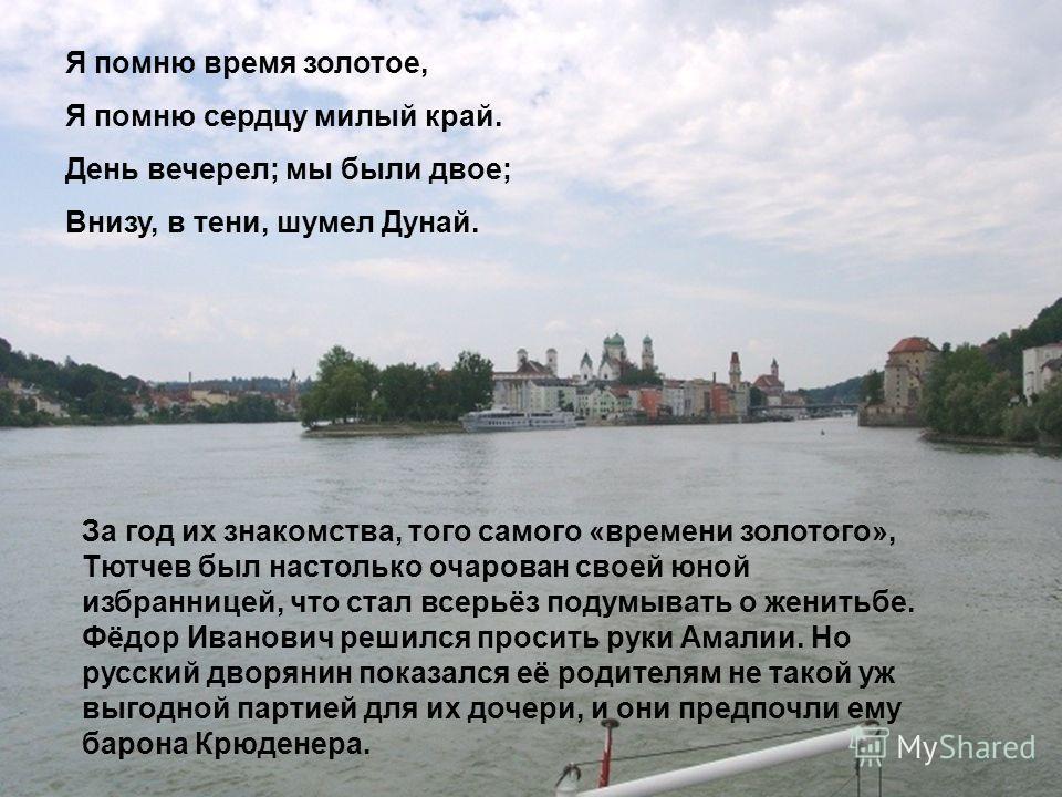 Они познакомились во второй половине 1823 года, когда двадцатилетний Фёдор Тютчев уже освоил свои немногочисленные служебные обязанности и стал чаще появляться в свете. Пятью годами моложе его была Амалия Лерхенфельд. Пятнадцатилетняя красавица взяла