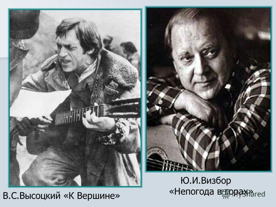 В.С.Высоцкий «К Вершине» Ю.И.Визбор «Непогода в горах»
