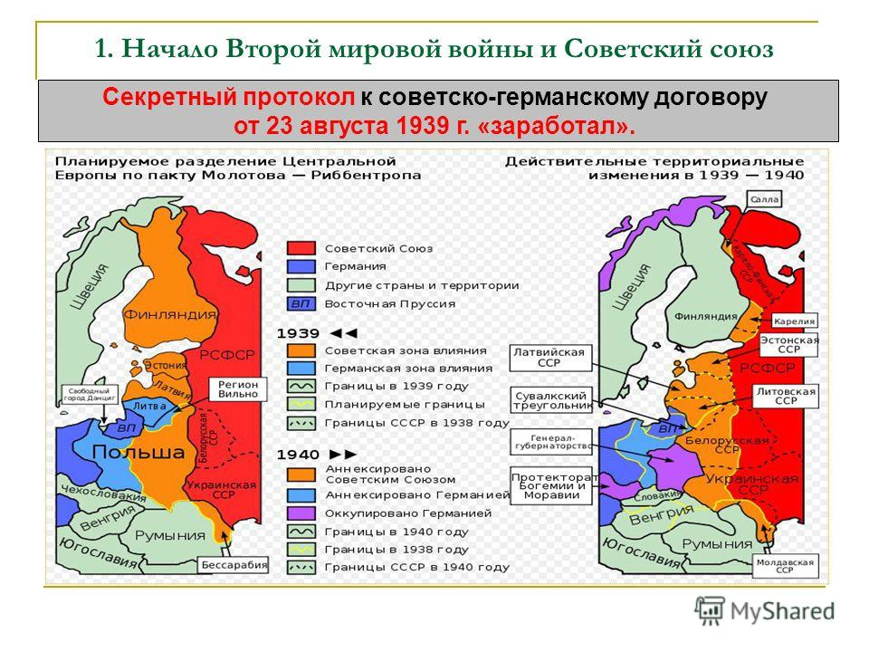 Начало второй мировой войны и