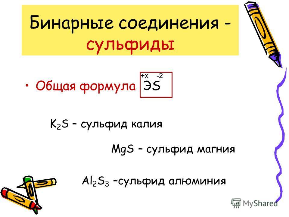 Бинарные соединения - оксиды Общая формула ЭО -2-2+x K 2 О – оксид калия MgО – оксид магния Al 2 О 3 –оксид алюминия