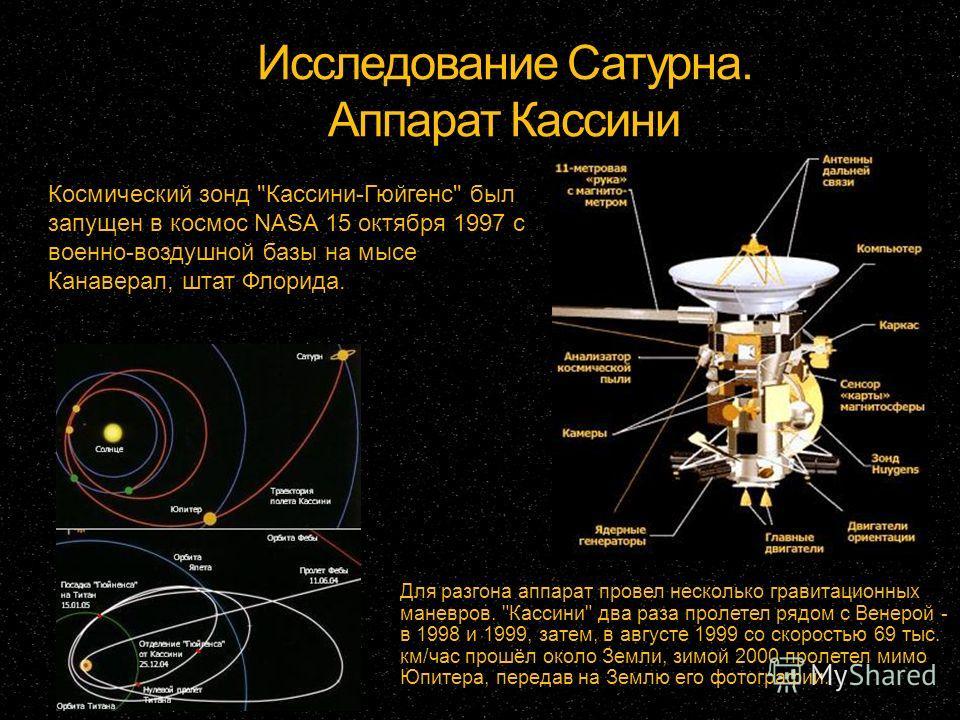 Исследование Сатурна. Аппарат Кассини Космический зонд