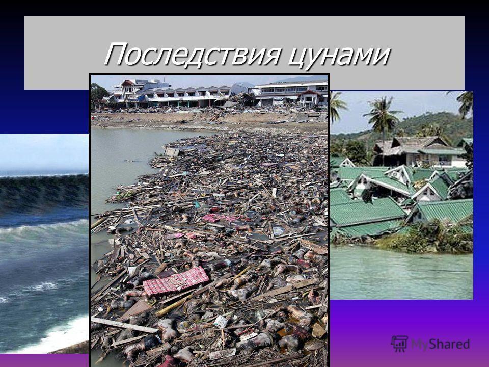 ПОСЛЕДСТВИЯ ЦУНАМИ ИНДОНЕЗИЯ 2005г. до цунами После цунами…