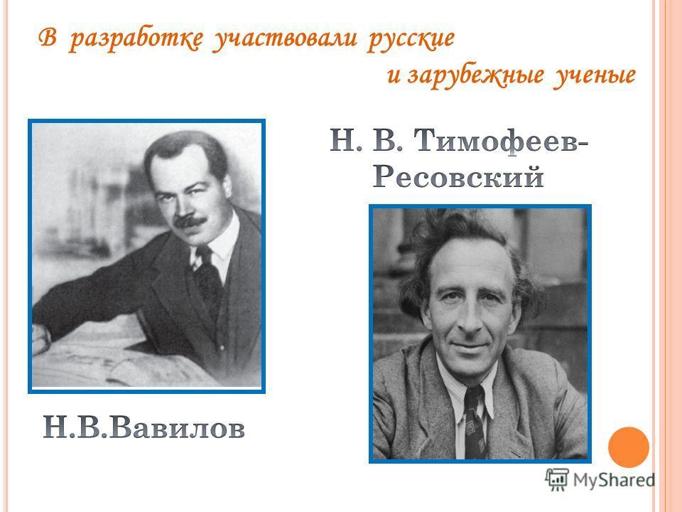В разработке участвовали русские и зарубежные ученые