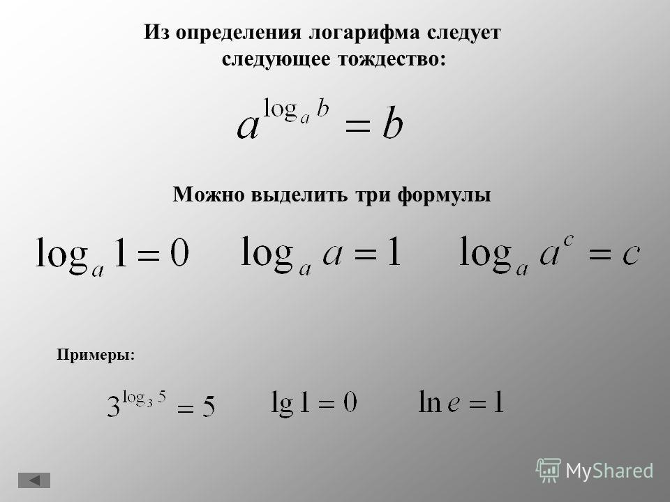 В зависимости от значения основания приняты два обозначения 1.Если основанием является 10, то вместо log 10 x пишут lg x. 2.Для введения следующего определения стоит понимать что за число e. Число е есть предел, к которому стремится при неограниченно