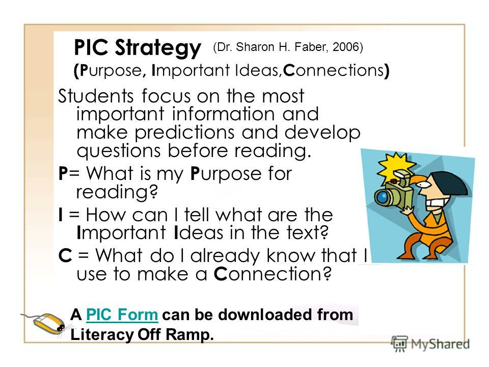 Anticipation Guide Strategy Post-Reading Discussion Review original choices to see if thinking has changed: –Did we find answers to our questions? –What questions do we still have? –What information did we learn that we did not anticipate before we r