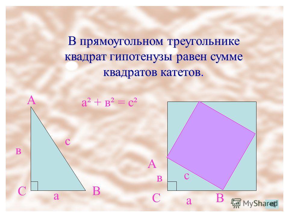 Теорема Пифагора Формулировка теоремы Проверь себя Задачи с практическим содержанием Задачи Древнего Китая