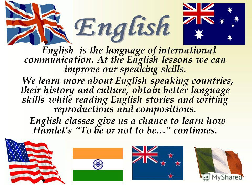 essay on english the world language