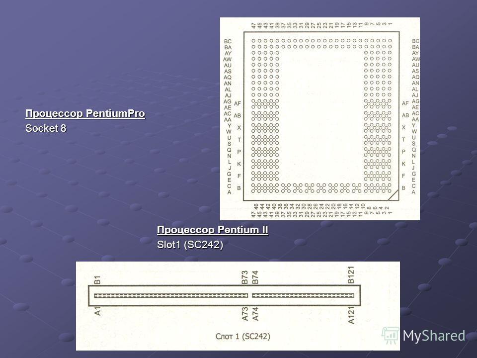 Процессор PentiumPro Socket 8 Процессор Pentium II Slot1 (SC242)