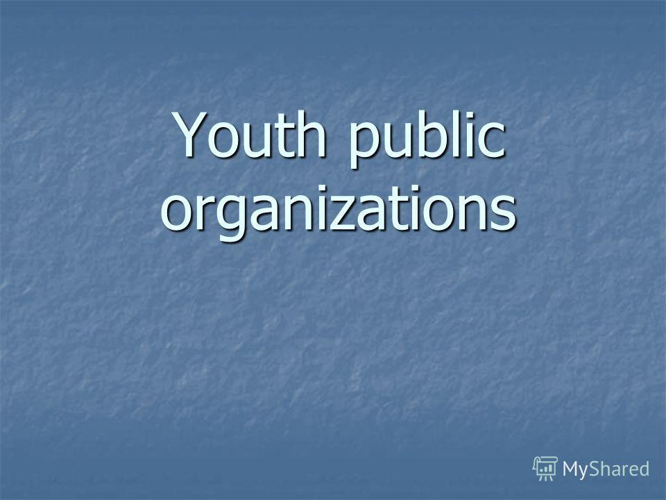 Youth public organizations