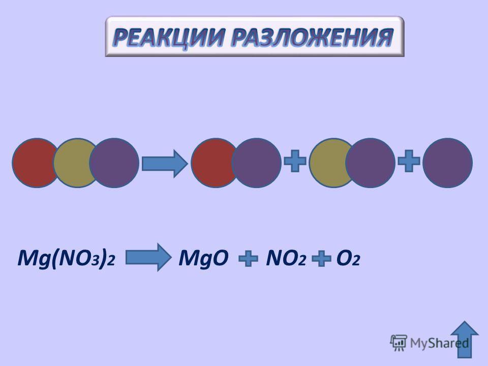 Mg(NO 3 ) 2 MgO NO 2 O 2
