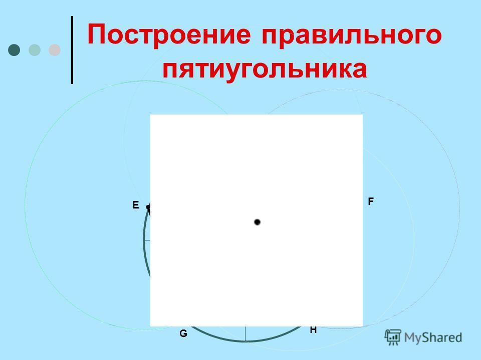 Построение правильного пятиугольника О A В C D E F G H