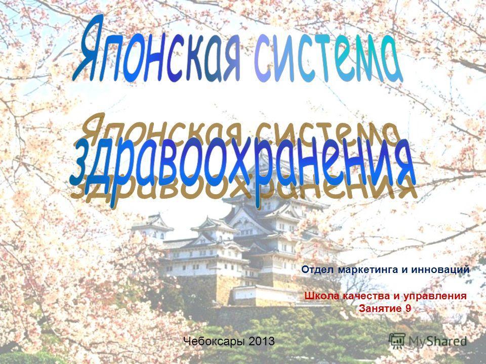 Отдел маркетинга и инноваций Школа качества и управления Занятие 9 Чебоксары 2013