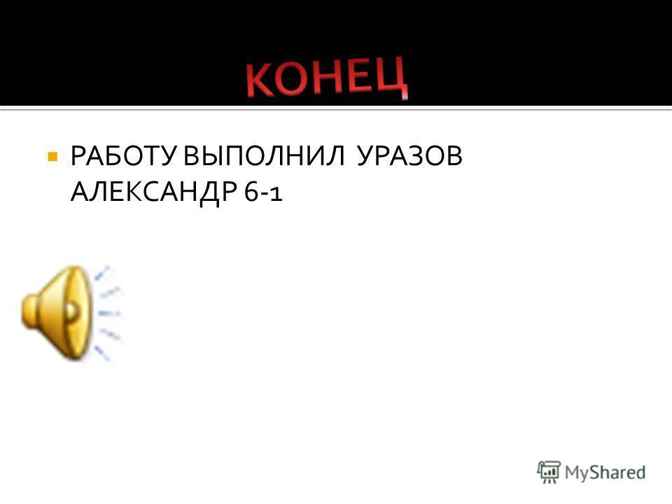 РАБОТУ ВЫПОЛНИЛ УРАЗОВ АЛЕКСАНДР 6-1