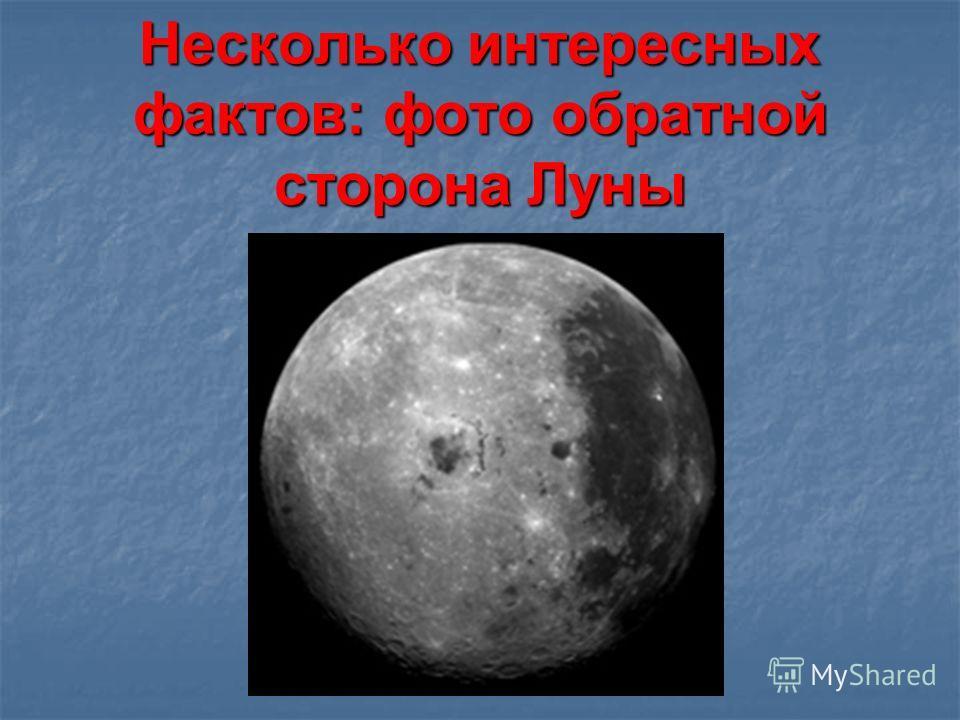 Несколько интересных фактов: фото обратной сторона Луны