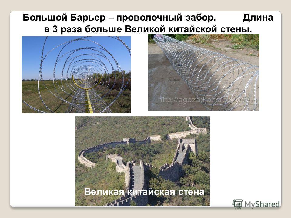Большой Барьер – проволочный забор. Длина в 3 раза больше Великой китайской стены. Великая китайская стена
