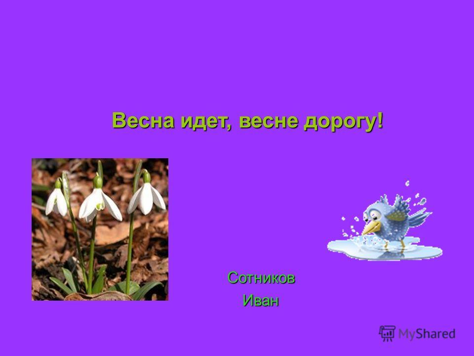 Весна идет, весне дорогу! СотниковИван