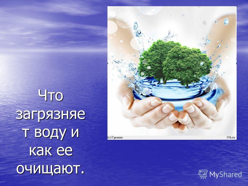 Что загрязняе т воду и как ее очищают.