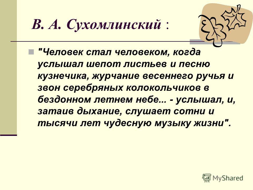 В. А. Сухомлинский :