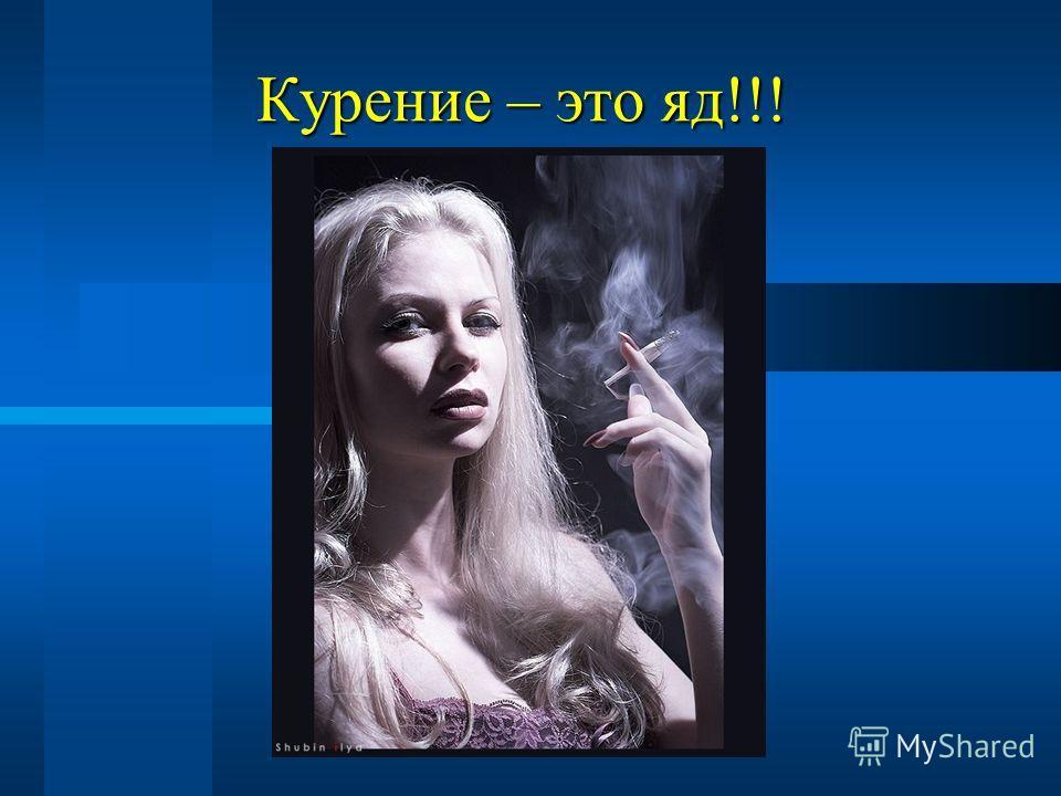 Курение – это яд!!!