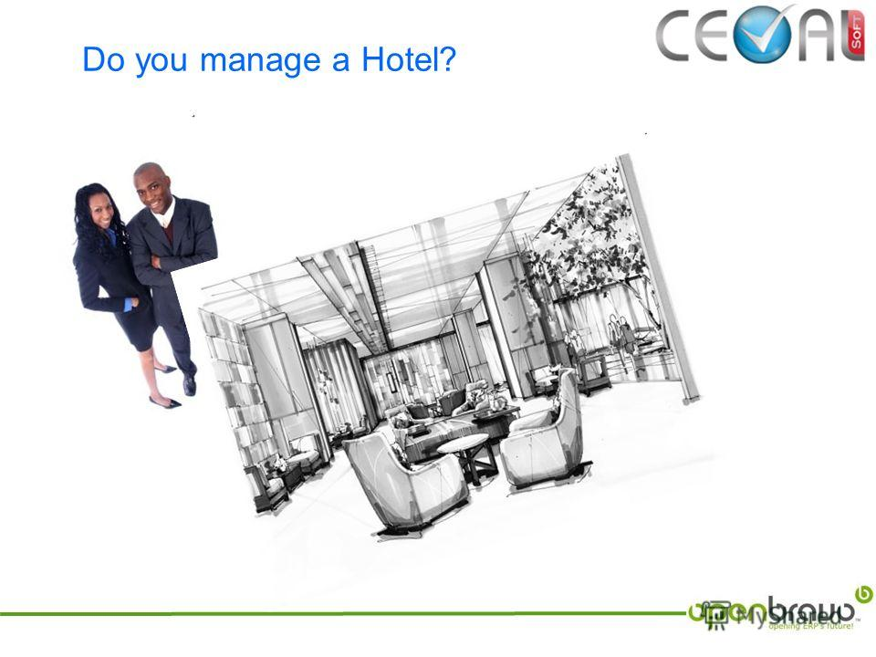 Do you manage a Hotel?