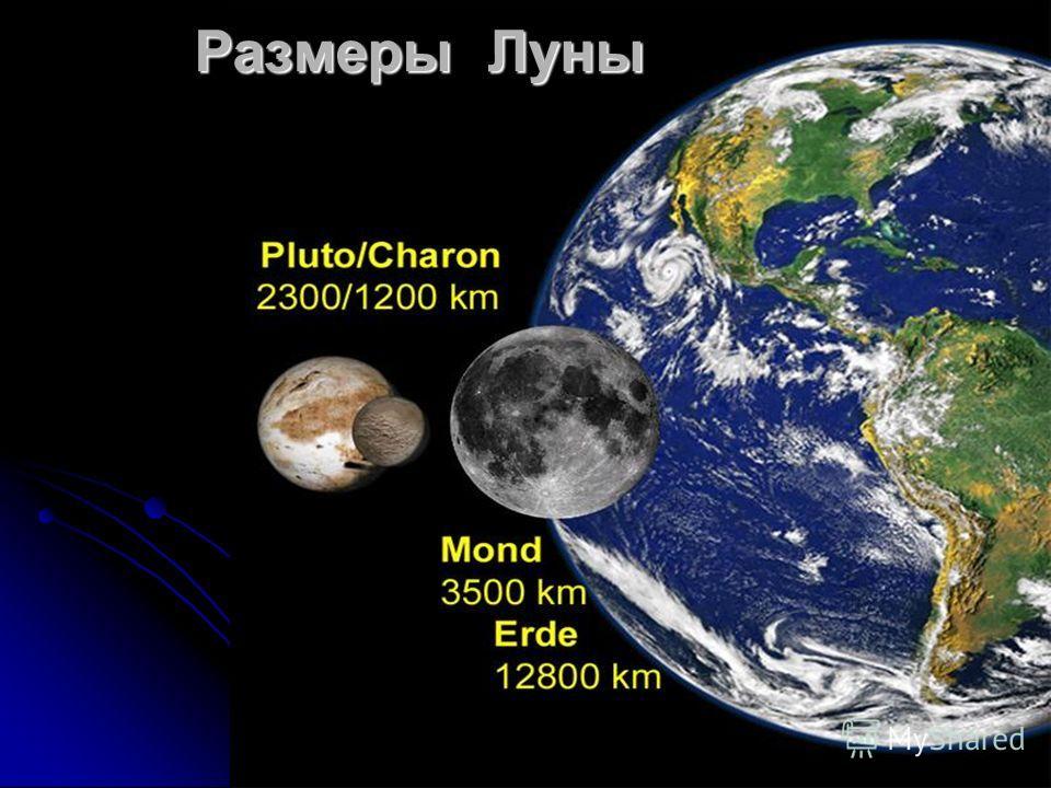 Размеры Луны
