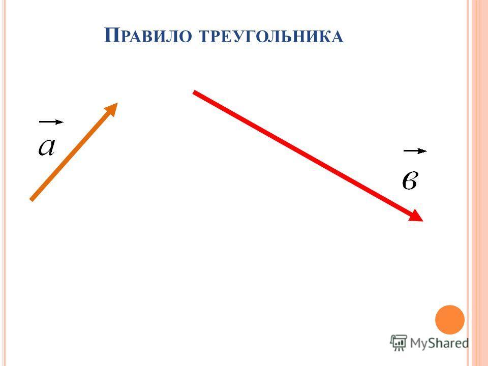П РАВИЛО ТРЕУГОЛЬНИКА