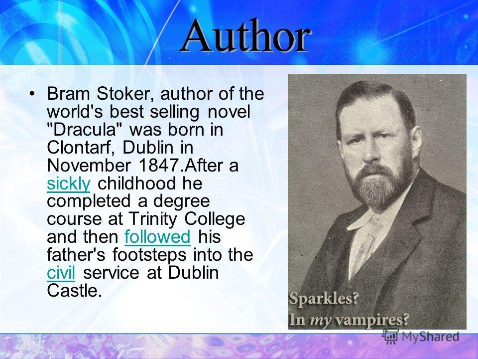 Bram Stoker, author of the world's best selling novel