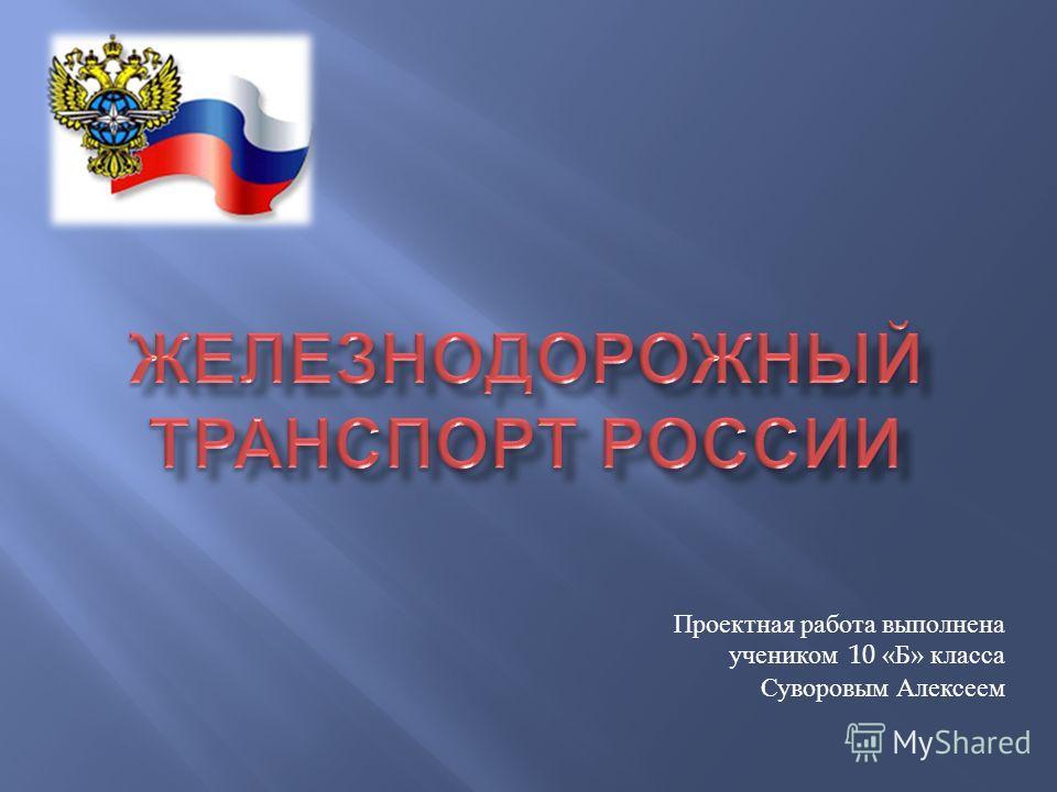 Проектная работа выполнена учеником 10 « Б » класса Суворовым Алексеем