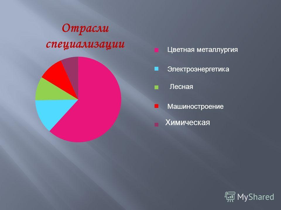Химическая Цветная металлургия Электроэнергетика Лесная Машиностроение